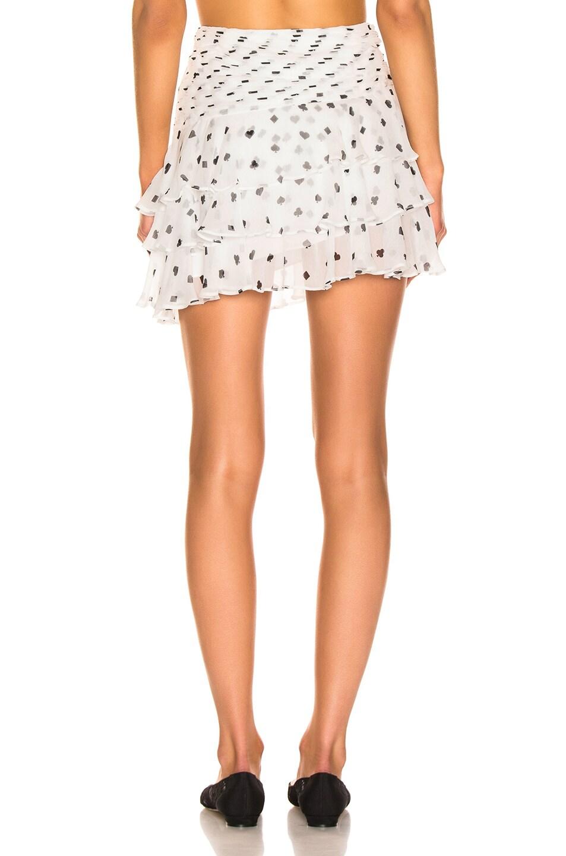 Image 4 of retrofete Reese Skirt in White & Poker Dots