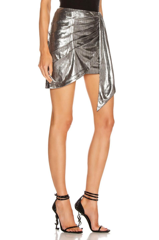 Image 2 of retrofete Luna Skirt in Gunmetal