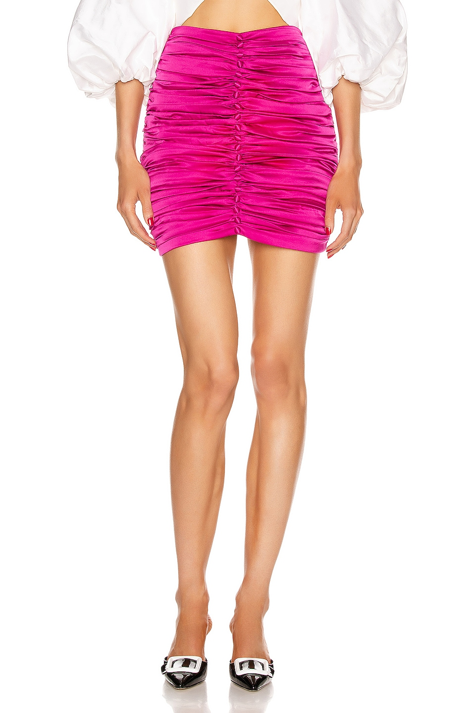 Image 1 of retrofete Ina Skirt in Hot Pink