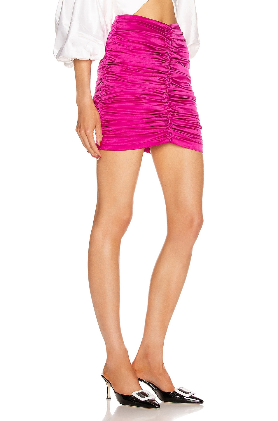 Image 2 of retrofete Ina Skirt in Hot Pink