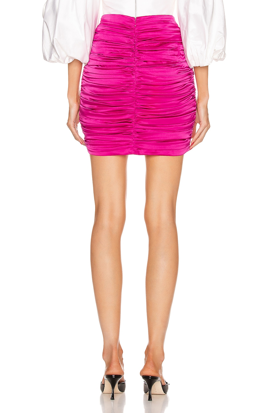 Image 3 of retrofete Ina Skirt in Hot Pink