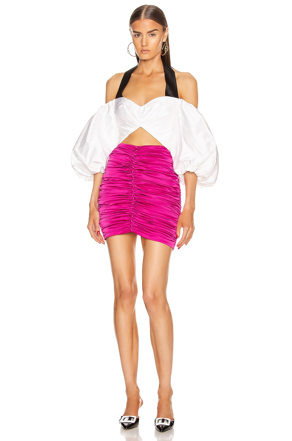 Image 4 of retrofete Ina Skirt in Hot Pink