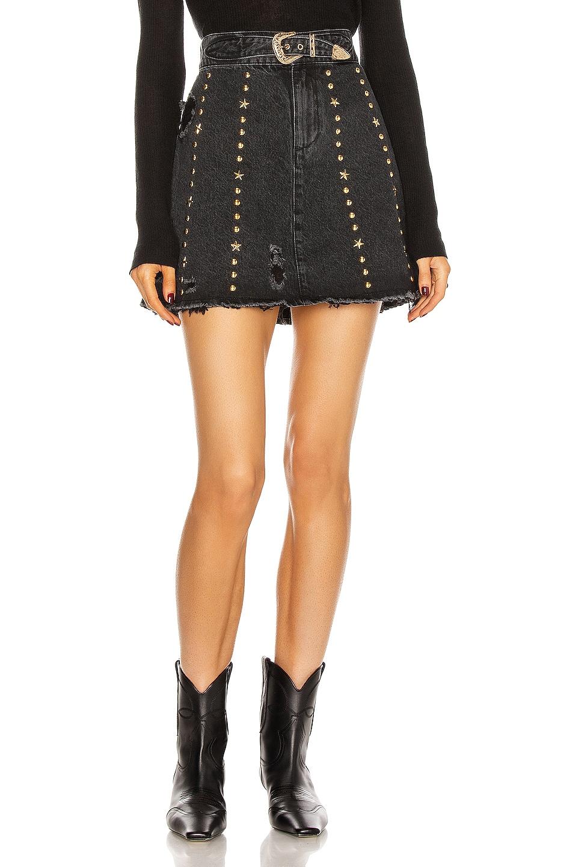 Image 1 of retrofete Holly Skirt in Jet Black Studded