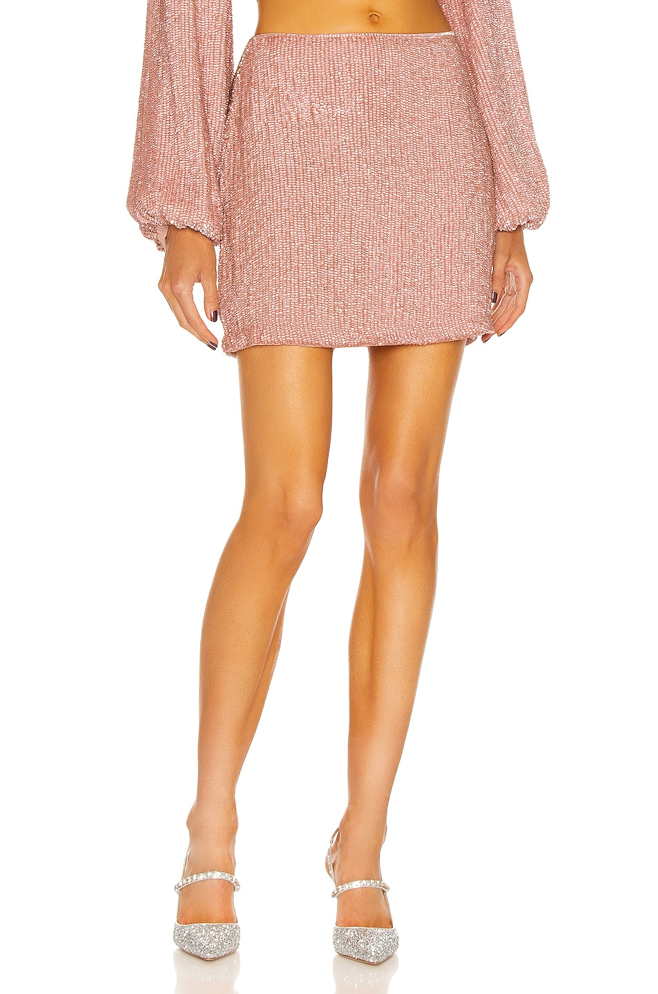 Image 1 of retrofete Frances Skirt in Dusty Rose