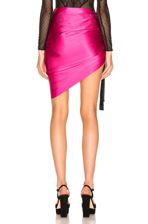 Image 4 of retrofete Phoebe Skirt in Fuchsia