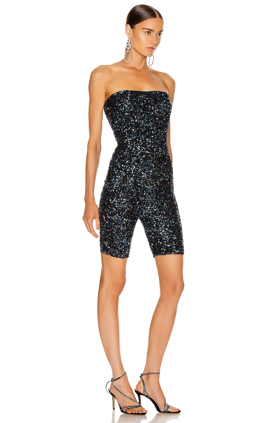 Image 2 of retrofete for FWRD Kendal Bodysuit in Shiny Black