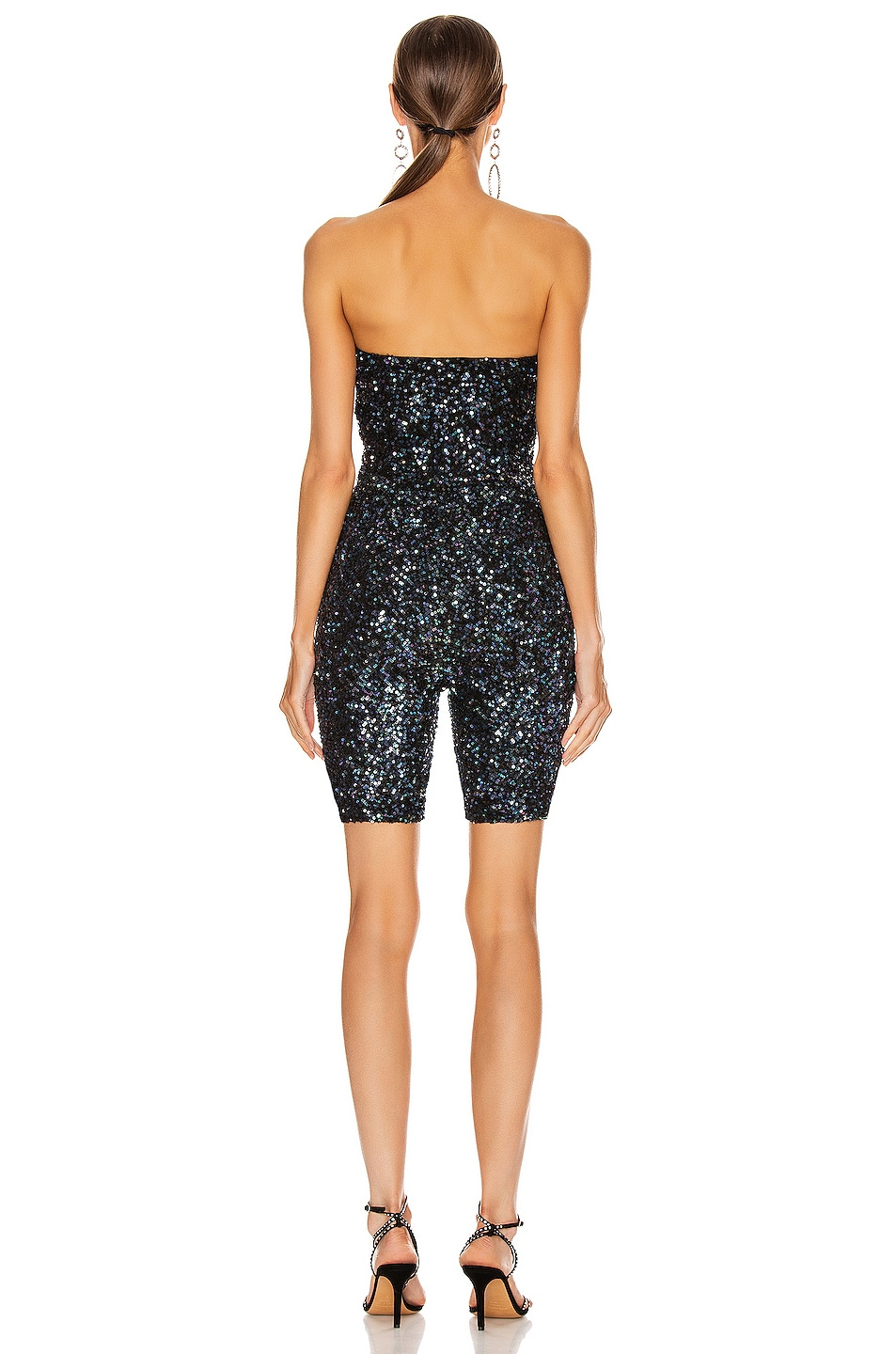 Image 3 of retrofete for FWRD Kendal Bodysuit in Shiny Black