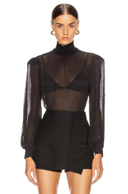 Image 1 of retrofete Danika Top in Black