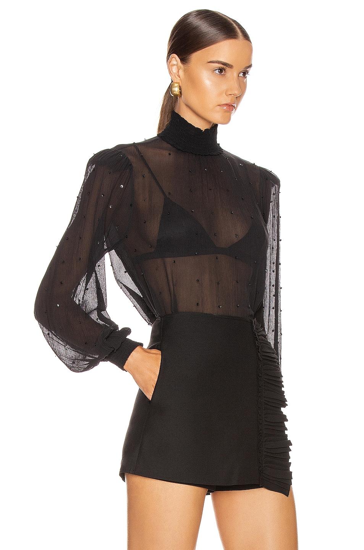 Image 2 of retrofete Danika Top in Black