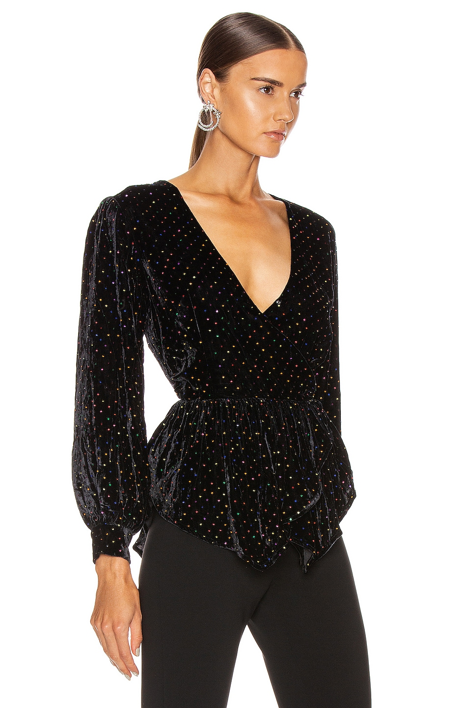 Image 2 of retrofete Sienna Top in Black Multi