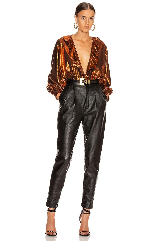 Image 5 of retrofete Fiona Bodysuit in Rust