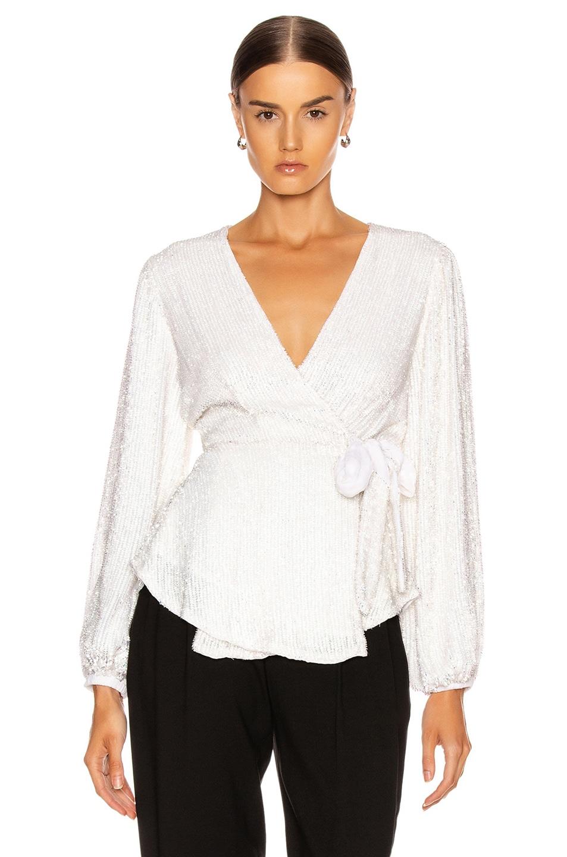 Image 1 of retrofete for FWRD Bette Top in White