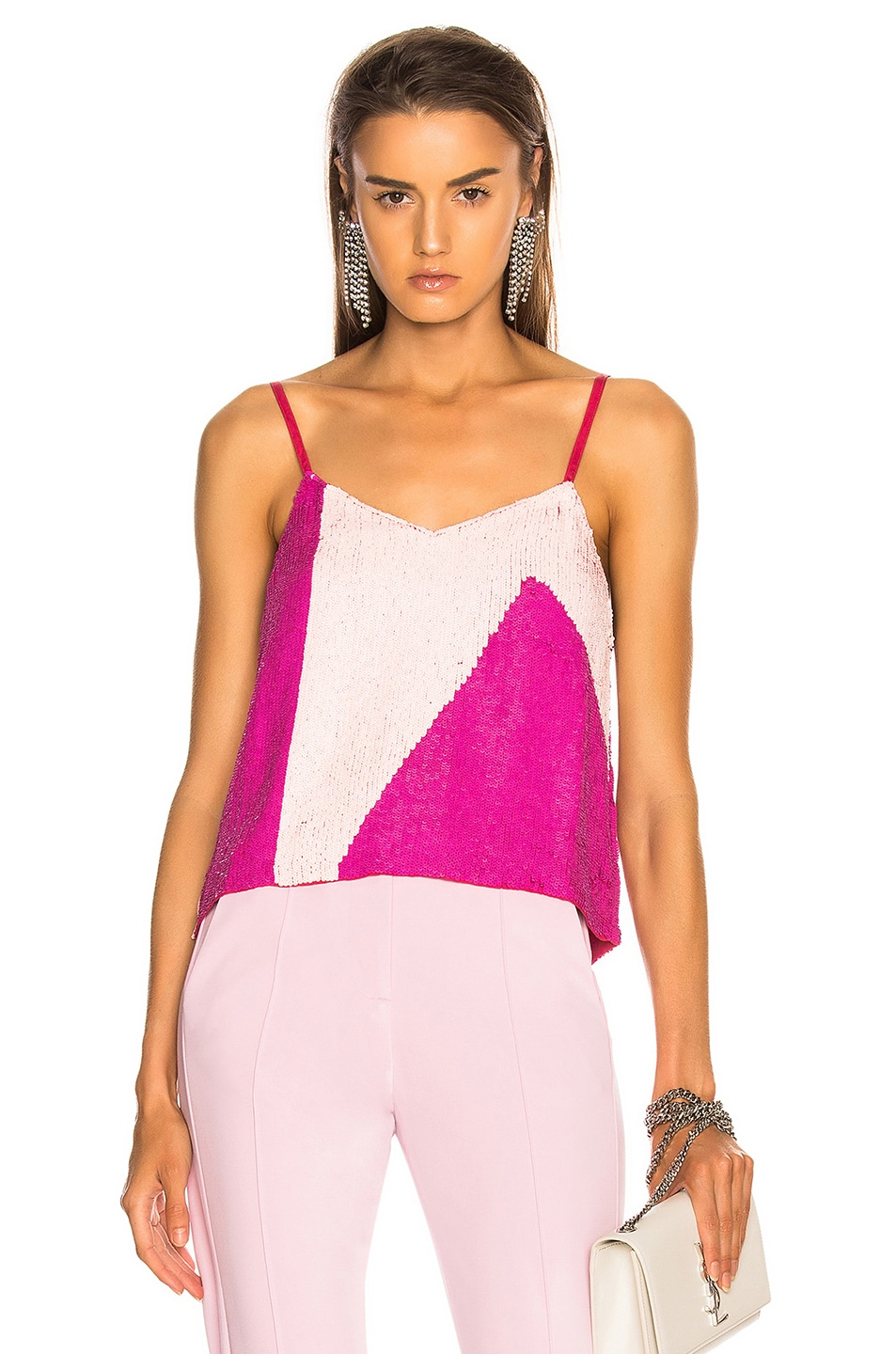 Image 1 of retrofete for FWRD Sandra Tank in Pink Mix