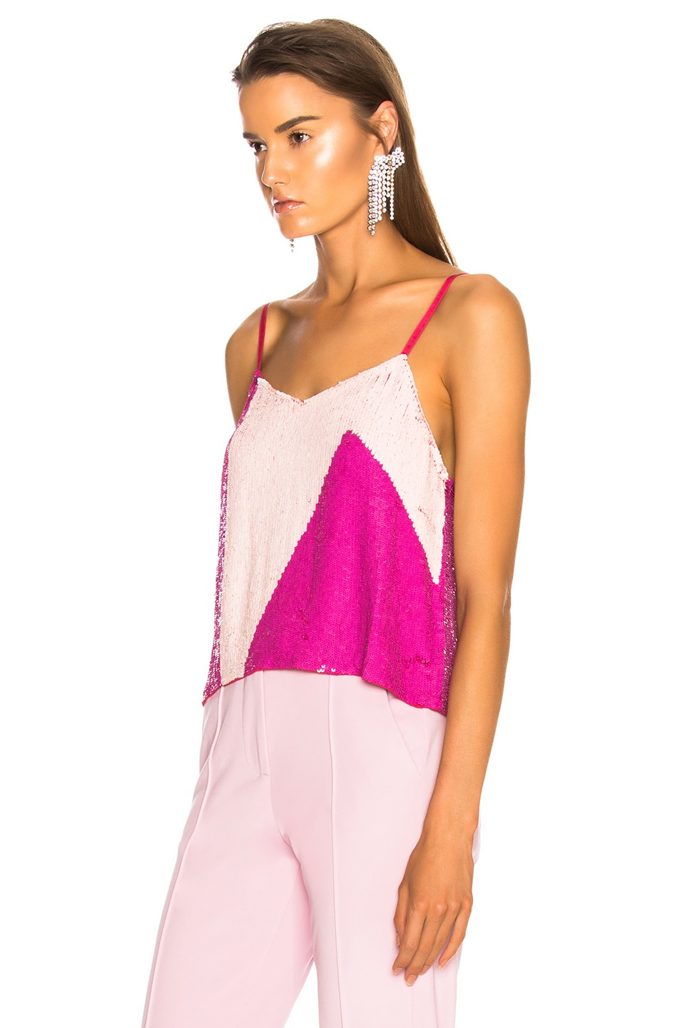 Image 3 of retrofete for FWRD Sandra Tank in Pink Mix