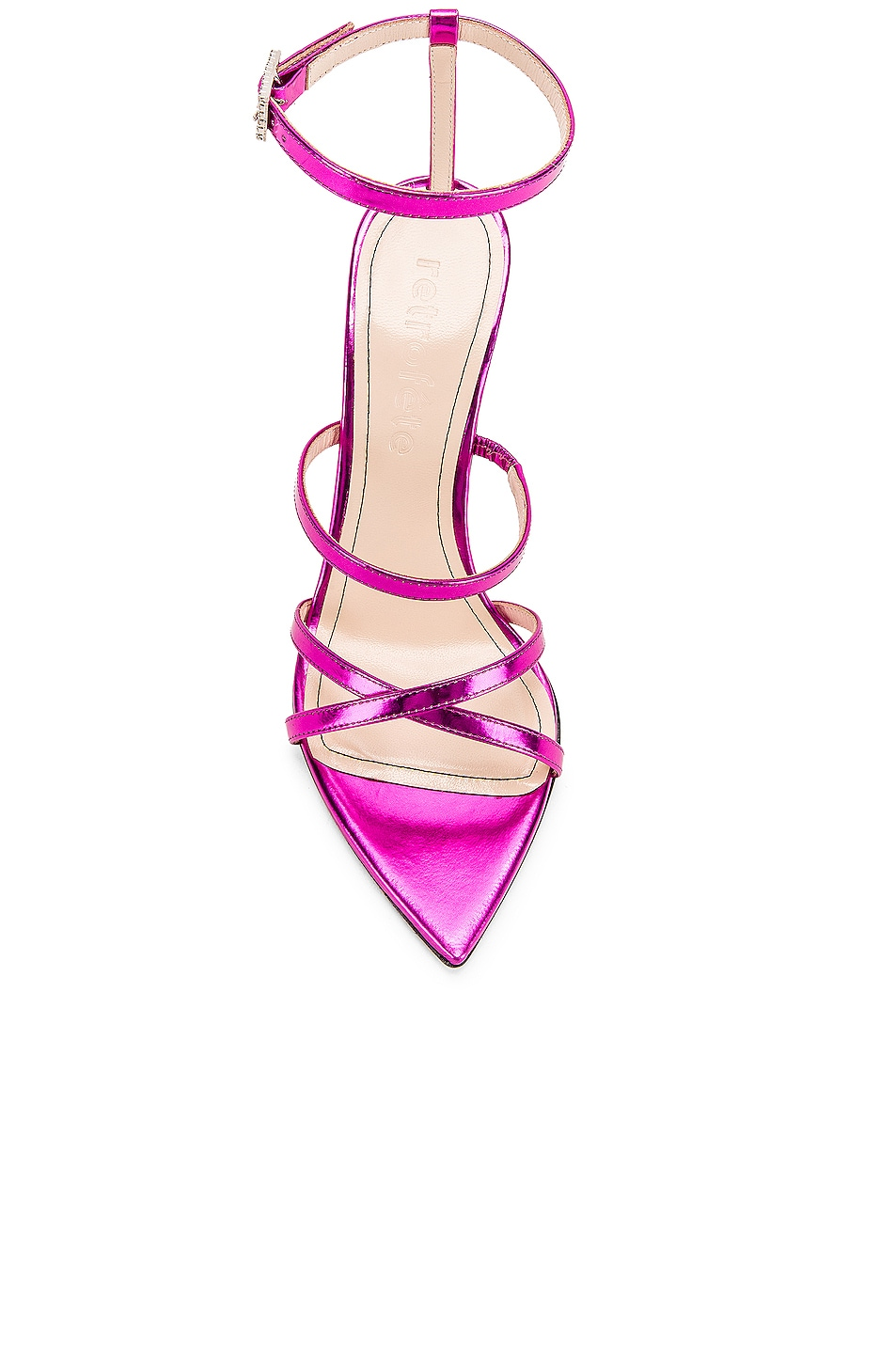 Image 4 of retrofete OS Sandal in Hot Pink