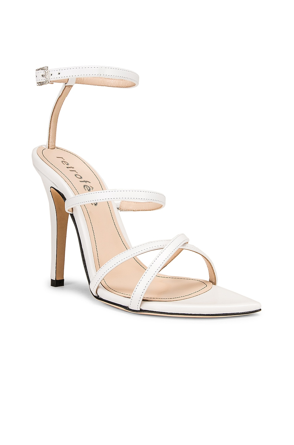 Image 2 of retrofete OS Sandal in White