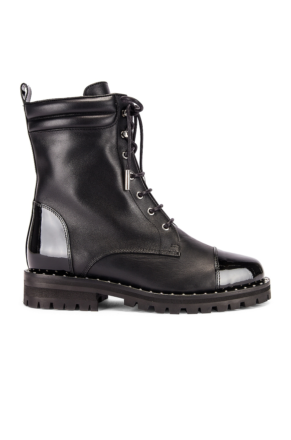 Image 1 of retrofete JM Combat Boot in Black