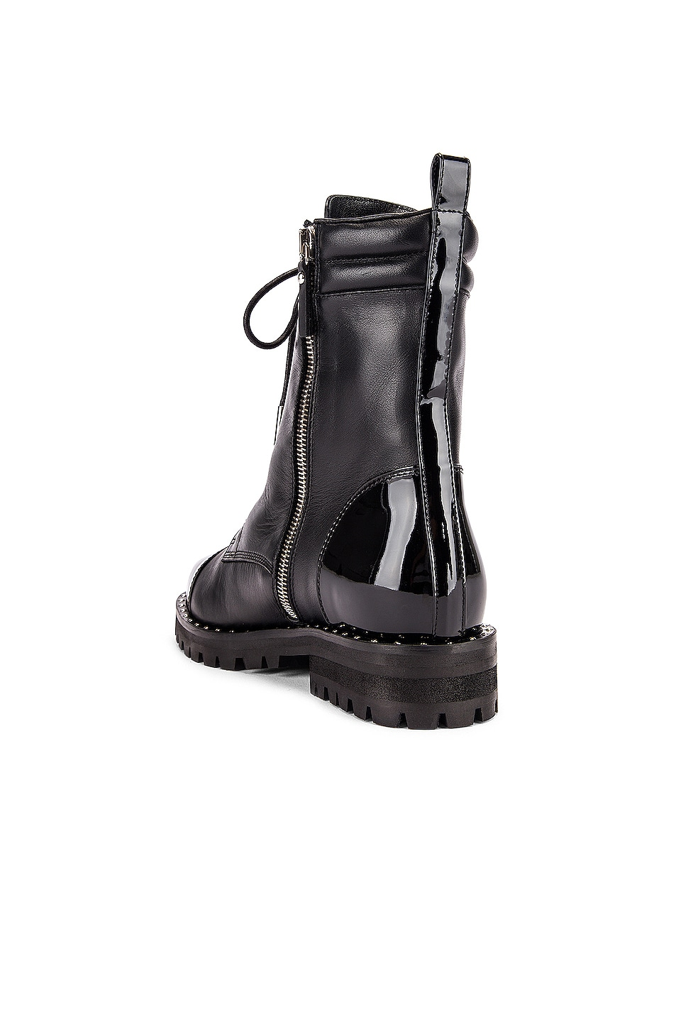 Image 3 of retrofete JM Combat Boot in Black
