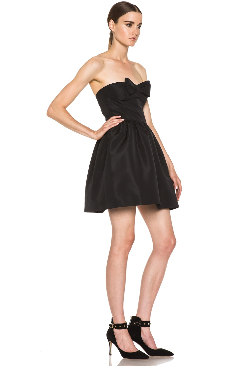 Image 3 of Red Valentino Faille Poly Dress in Black
