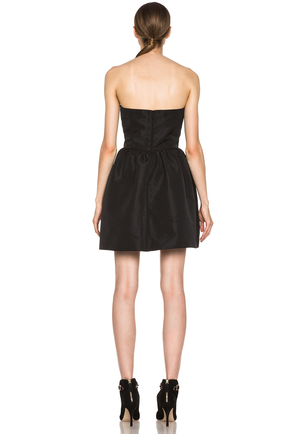 Image 4 of Red Valentino Faille Poly Dress in Black