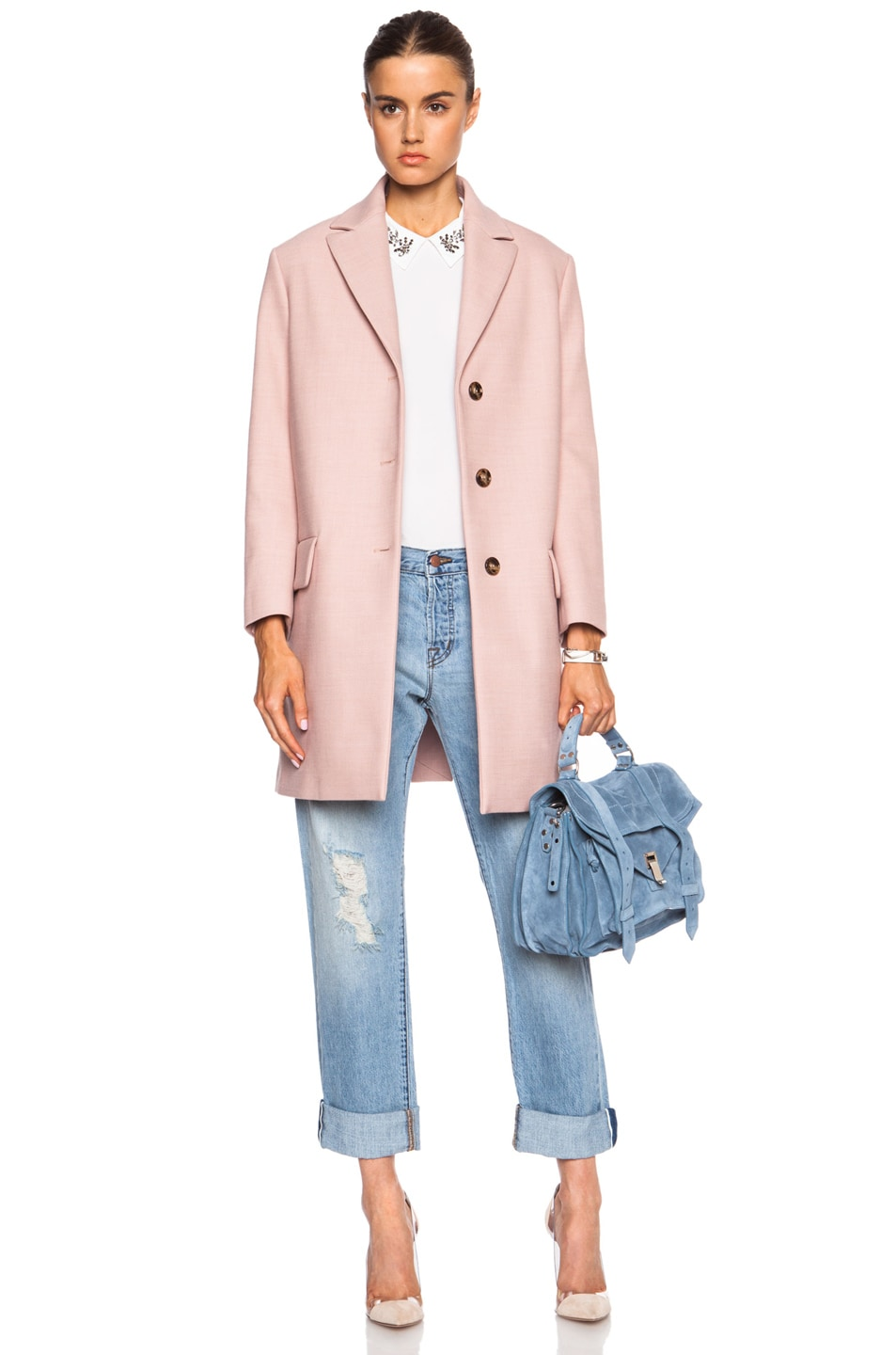 Image 1 of Red Valentino Wool-Blend Coat in Nude