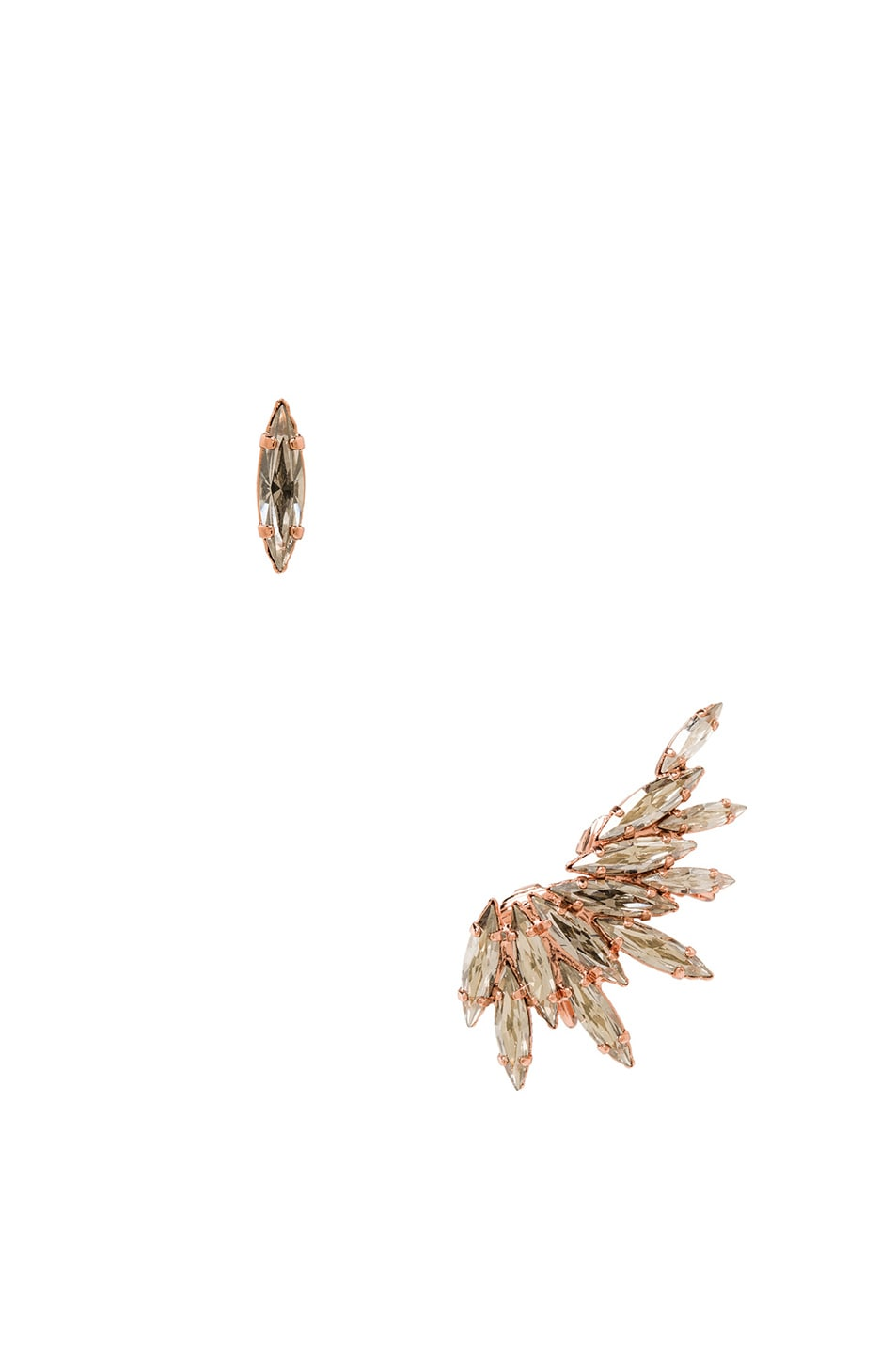 Image 1 of Ryan Storer Plated Ear Cuff with Swarovski Crystals in Rose Gold
