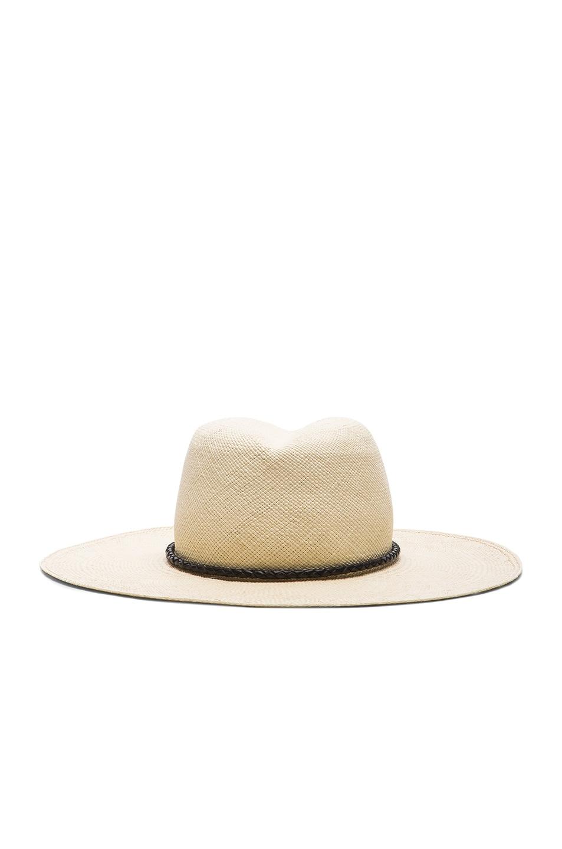 Image 1 of Ryan Roche Panama Hat in Light Mink