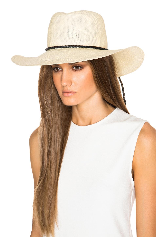 Image 2 of Ryan Roche Panama Hat in Light Mink