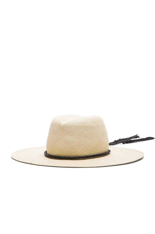 Image 3 of Ryan Roche Panama Hat in Light Mink
