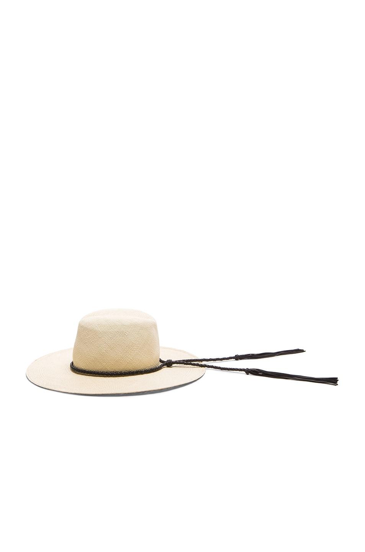 Image 4 of Ryan Roche Panama Hat in Light Mink