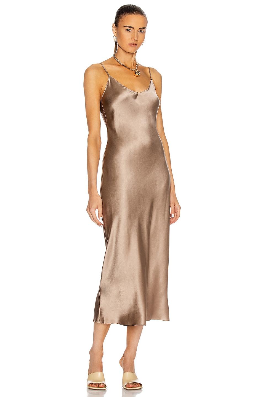 Image 1 of SABLYN Taylor Slip Dress in Nutmeg