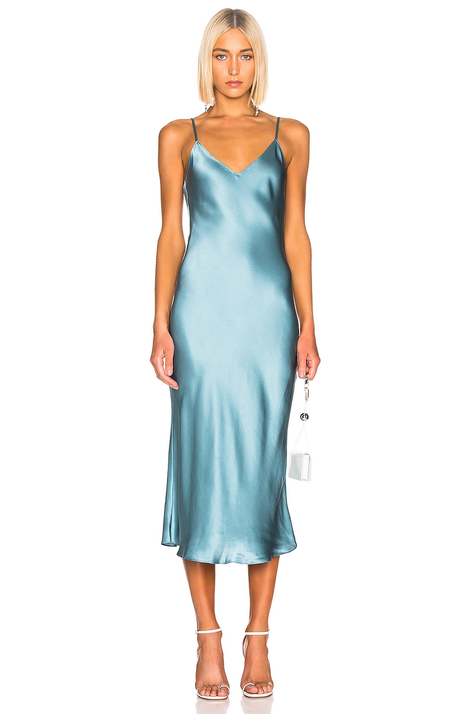 Image 1 of SABLYN Taylor Slip Dress in Ice