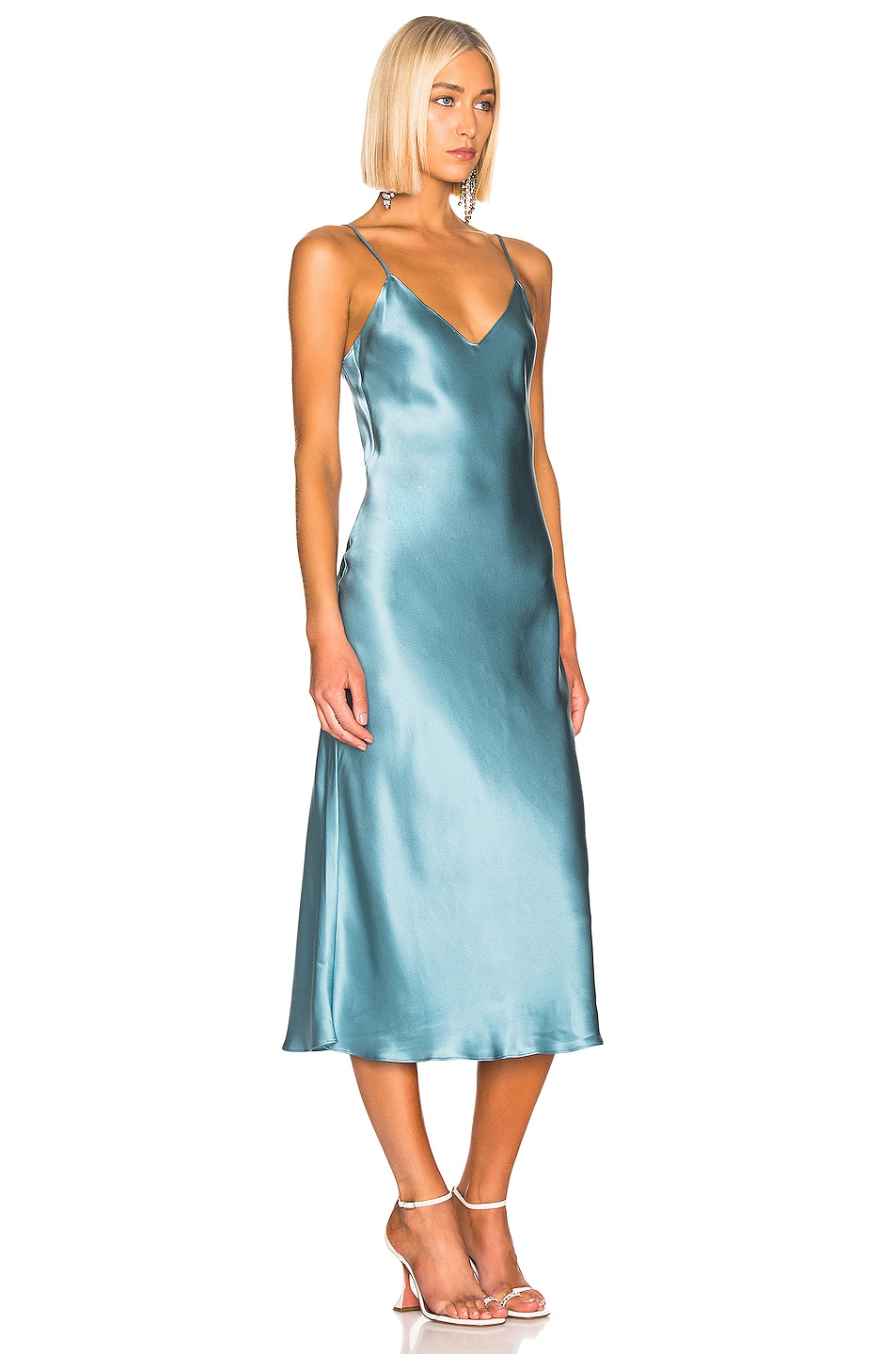 Image 2 of SABLYN Taylor Slip Dress in Ice