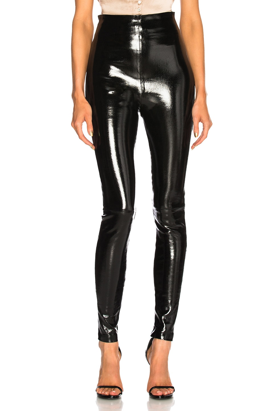Image 1 of SABLYN Jessica Patent High Waisted Leggings in Black