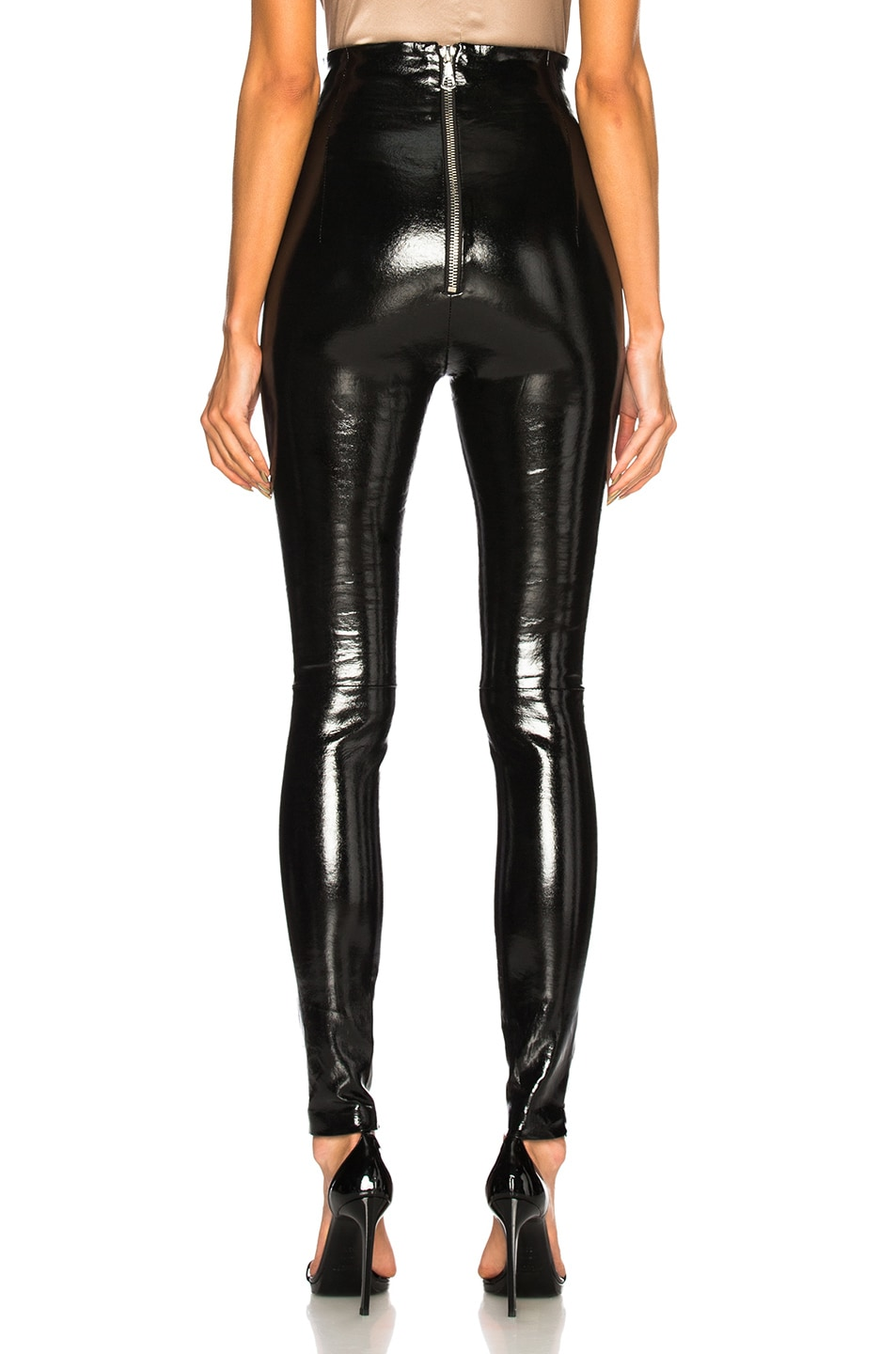Image 3 of SABLYN Jessica Patent High Waisted Leggings in Black