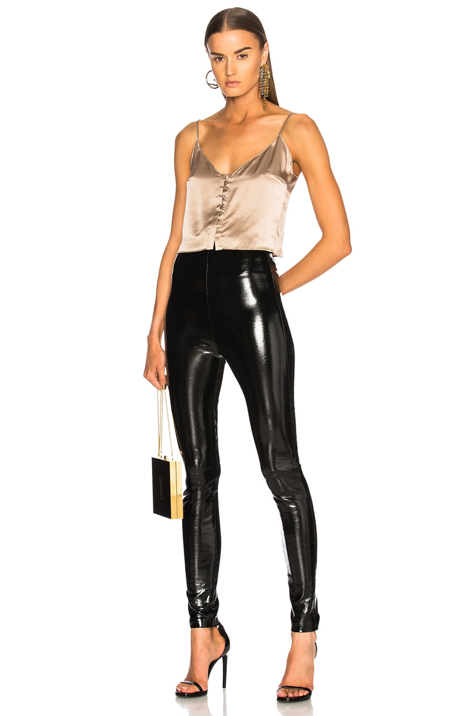 Image 4 of SABLYN Jessica Patent High Waisted Leggings in Black