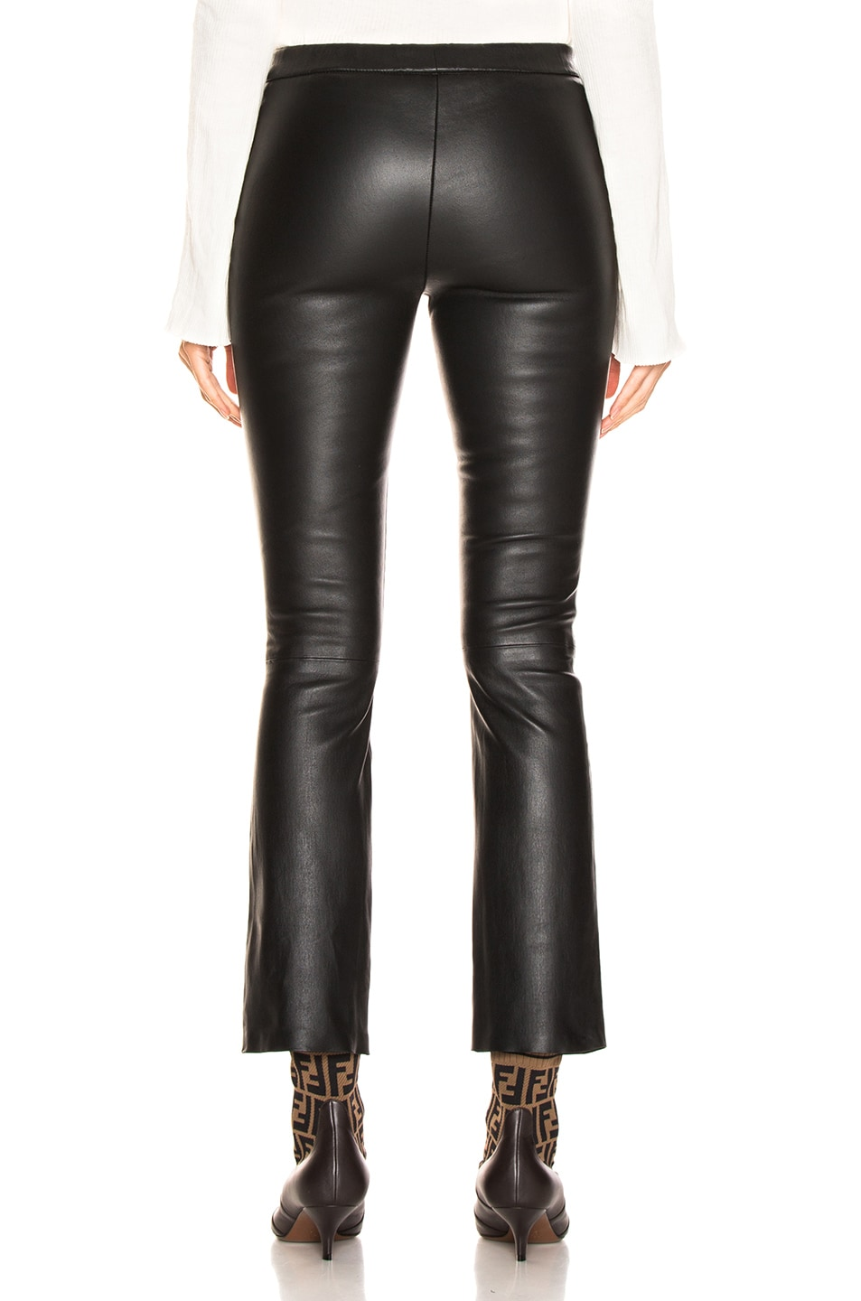 Image 3 of SABLYN Devon Cropped Leather Pants in Black