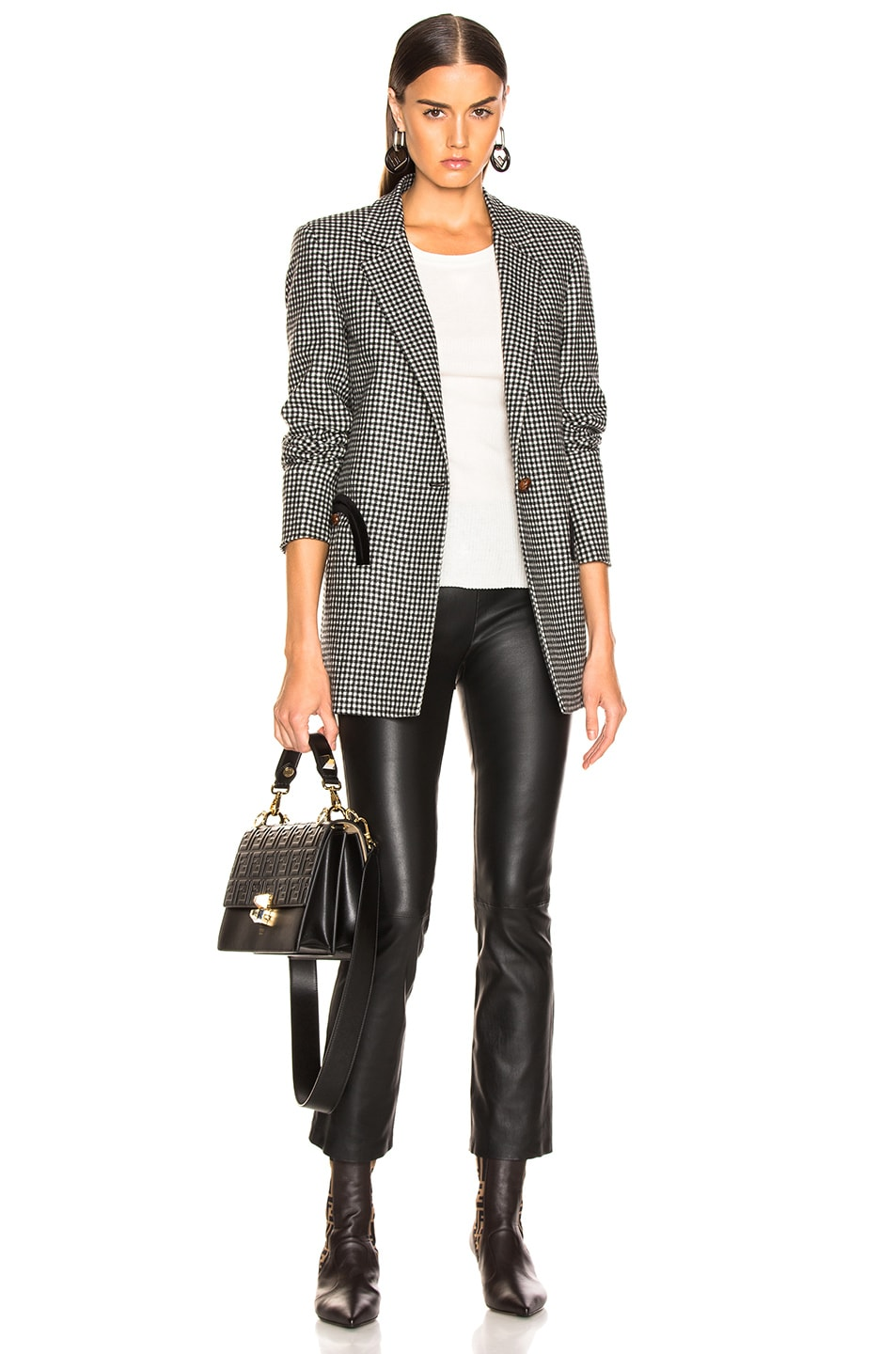 Image 4 of SABLYN Devon Cropped Leather Pants in Black