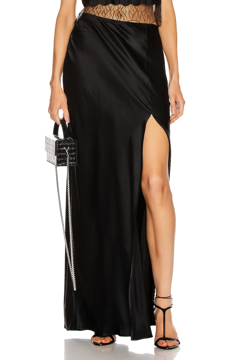 Image 1 of SABLYN Isabella Slit Skirt in Black