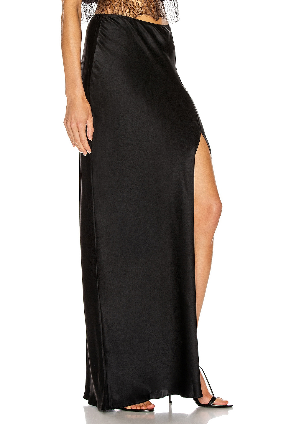 Image 2 of SABLYN Isabella Slit Skirt in Black