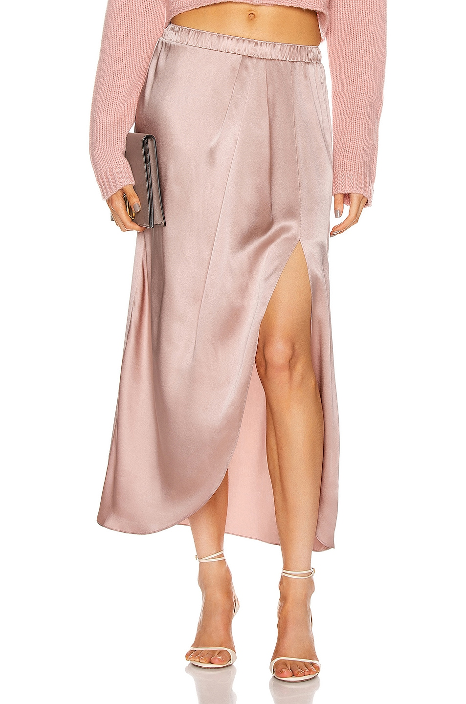 Image 1 of SABLYN Ariel Slit Skirt in Cherry Blossom