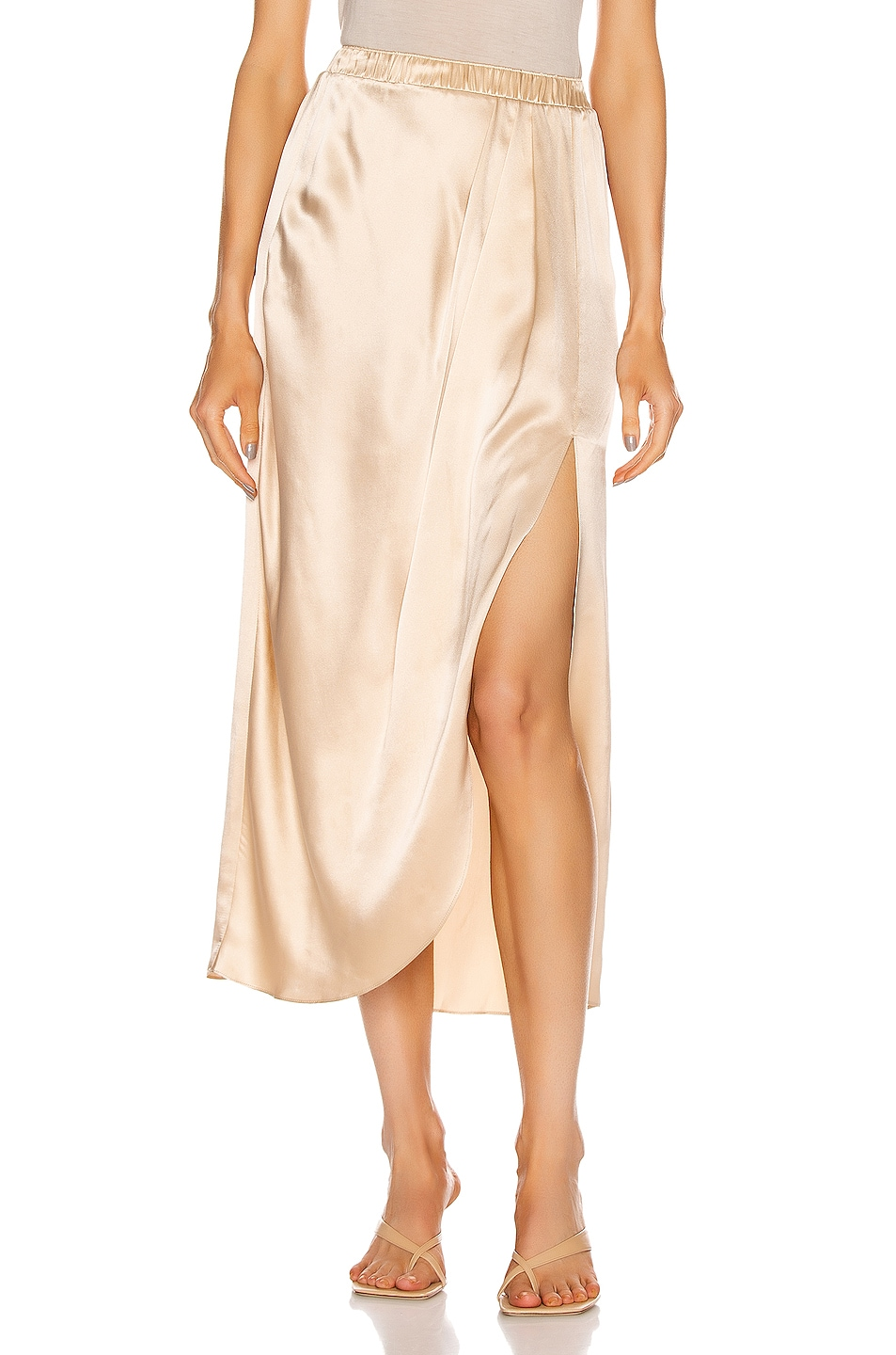 Image 1 of SABLYN Ariel Slit Skirt in Fawn