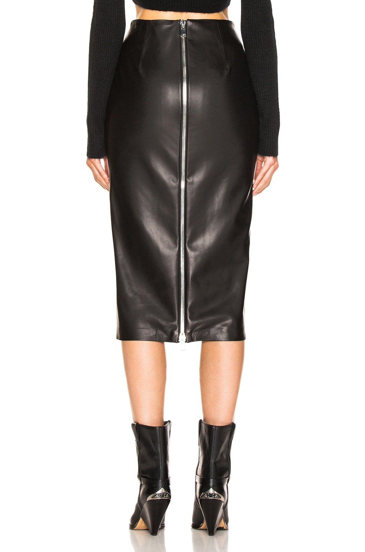 Image 3 of SABLYN Rachell Skirt in Black Leather