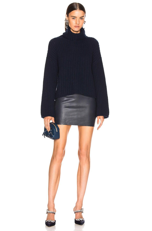 Image 4 of SABLYN Elizabeta Mini Skirt in Navy