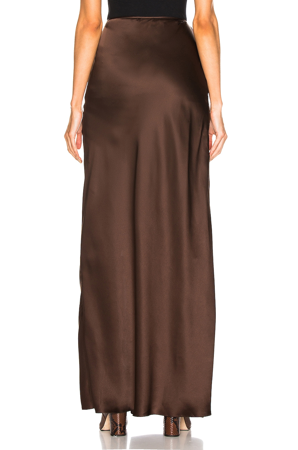 Image 4 of SABLYN Isabella Slit Skirt in Chocolate