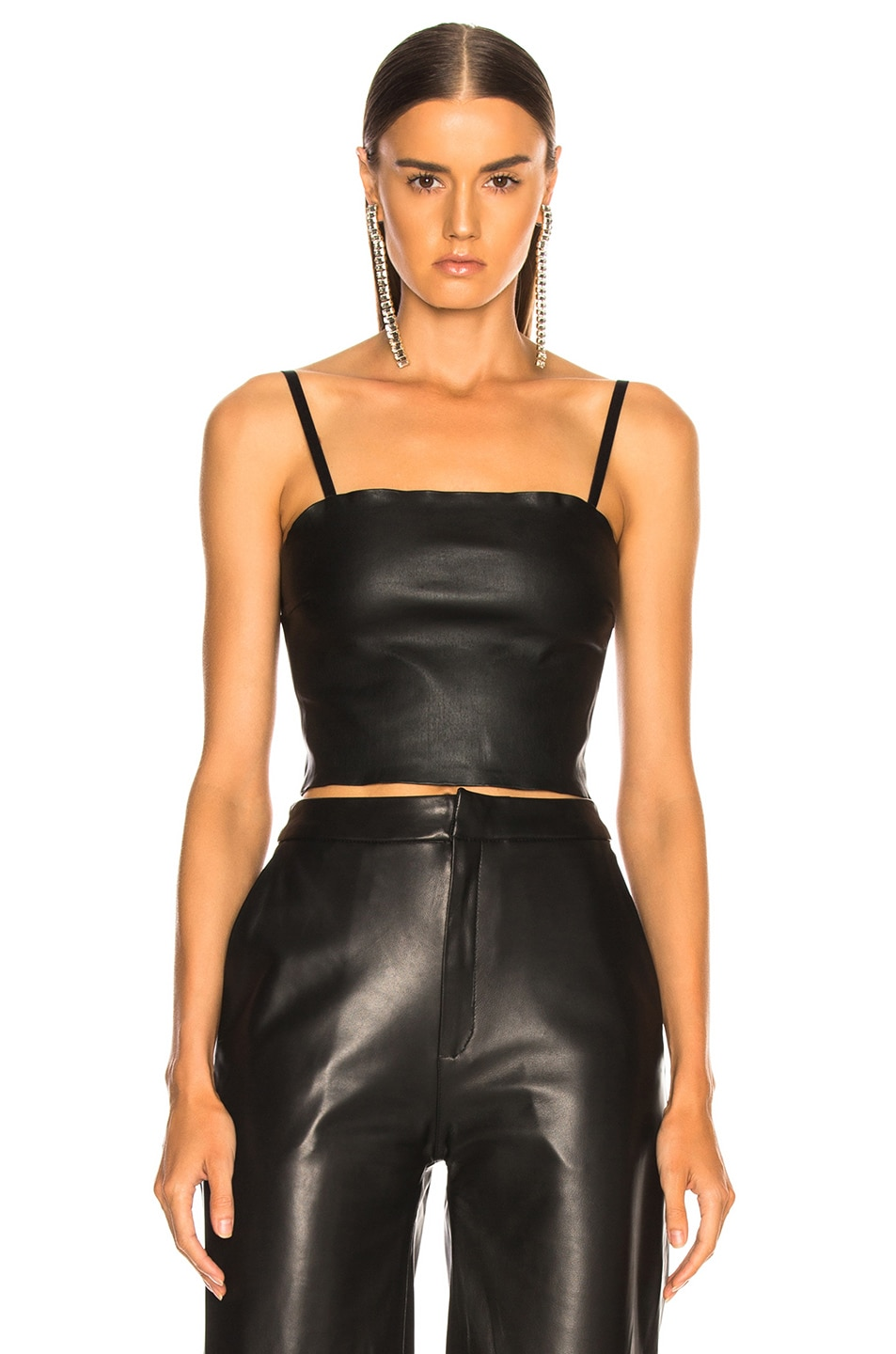 Image 1 of SABLYN Max Leather Tube Top in Black