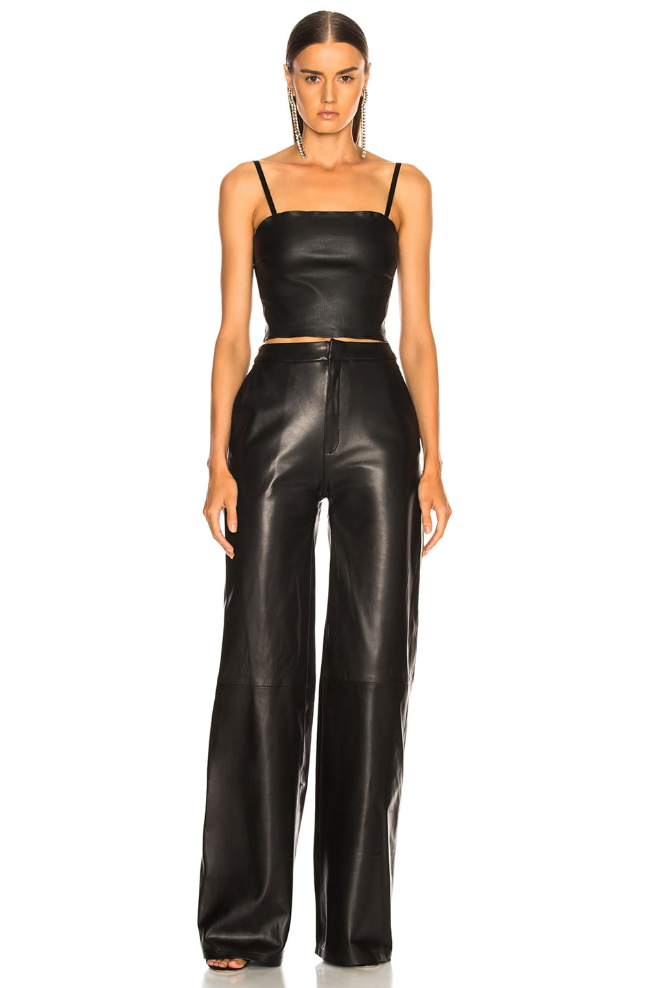 Image 4 of SABLYN Max Leather Tube Top in Black