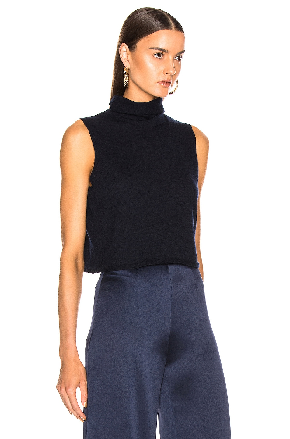 Image 2 of SABLYN Lera Crop Top in Navy