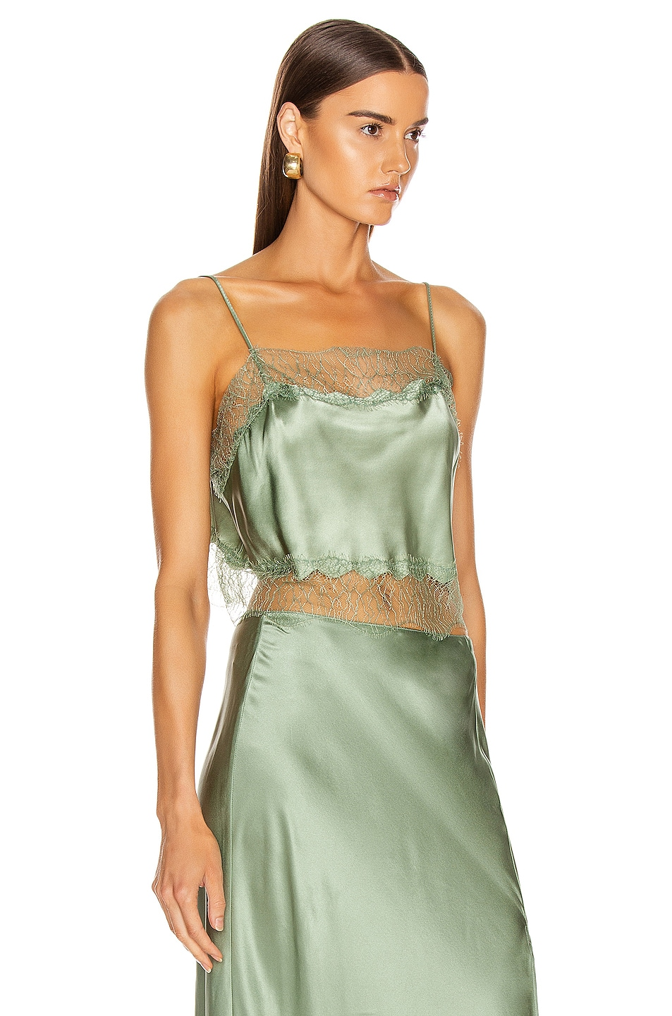 Image 2 of SABLYN Rose Lace Tank in Mint