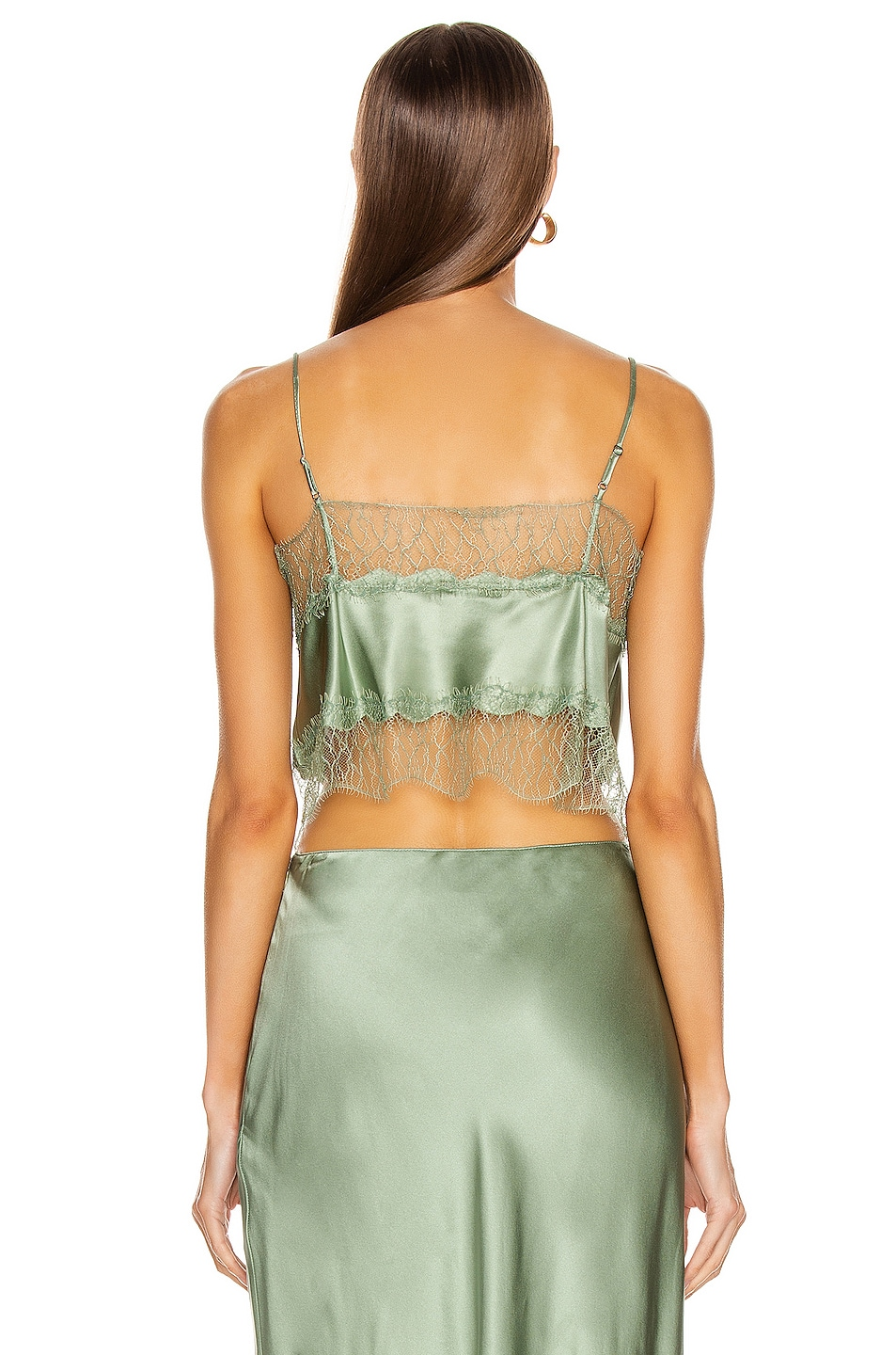 Image 3 of SABLYN Rose Lace Tank in Mint